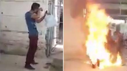 Inmigrante sirio se prendió fuego en un campo de refugiados en Grecia