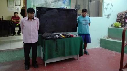 Capturan a delincuentes por robo de un televisor en Socabaya