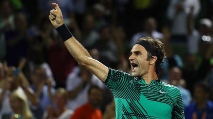 Roger Federer avanzó a la final del Masters 1000 de Miami y jugará con Nadal