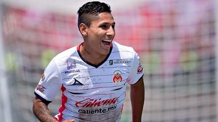 Raúl Ruidíaz marcó un golazo en el entrenamiento del Monarcas Morelia