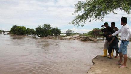 Incremento del río Piura generó inundación en algunos sectores de la ciudad