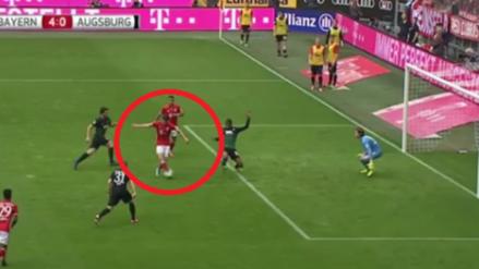 La frialdad de Lewandowski para dejar frente al arco a Thiago Alcántara