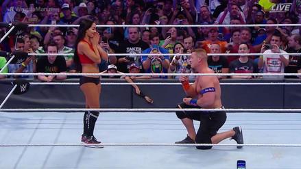 John Cena le pidió matrimonio a Nikki Bella en WrestleMania 33