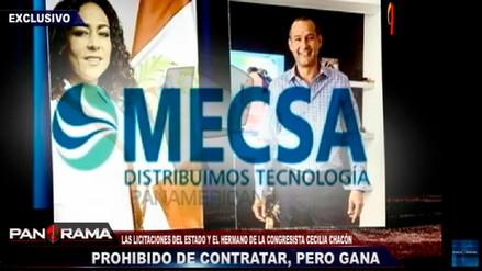 Denuncian que el hermano de la congresista Chacón realiza contrataciones con el Estado