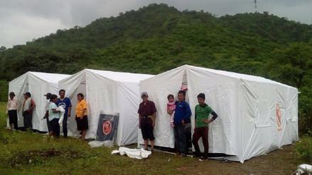 Instalan albergue para damnificados de zona andina de Salas