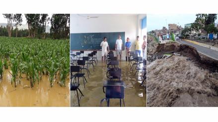 ¿Cuántos cultivos, vías, puentes, colegios y hospitales se perdieron por El Niño?