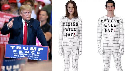 Piden a Amazon retirar un 'disfraz de muro' con la leyenda 'México pagará'