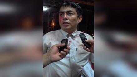 Agreden y lanzan huevos a regidor por reclamarle a alcalde de Bagua