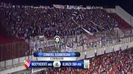Barra de Alianza Lima se hizo sentir en el estadio de Independiente