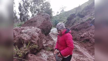 Jauja: familias incomunicadas por deslizamiento de rocas