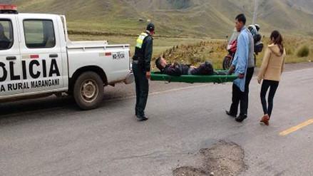 Argentino se fractura rodilla tras despiste en vía Cusco-Juliaca