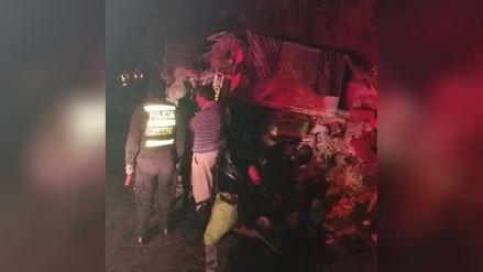 Tarma: tres heridos en despiste de camión