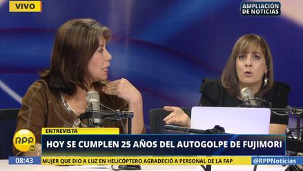 Patricia del Río y Martha Chávez debatieron sobre la censura del 5 de abril