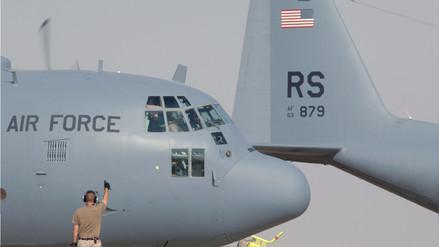 Estados Unidos envió dos aviones de transporte para ayudar a damnificados