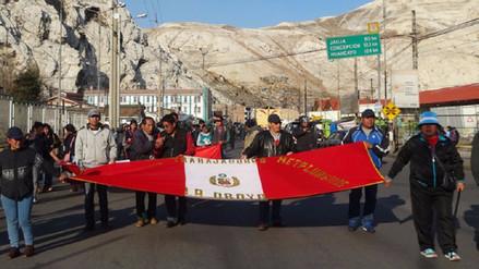 Trabajadores de Doe Run anuncian marcha hacia Lima para el 17 de abril