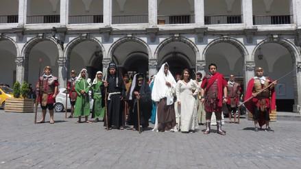 Escenificarán la vida de Jesucristo en la Plaza de Armas de Arequipa