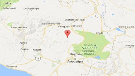 Sismo de 4,2 grados de magnitud se registró en Chivay