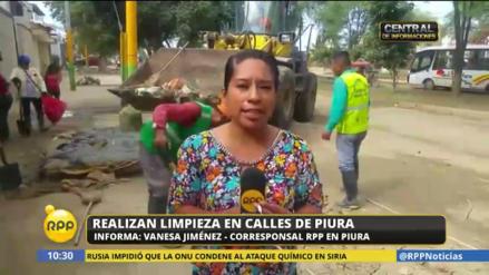Recogerán 220 toneladas de basura tras inundación en Piura