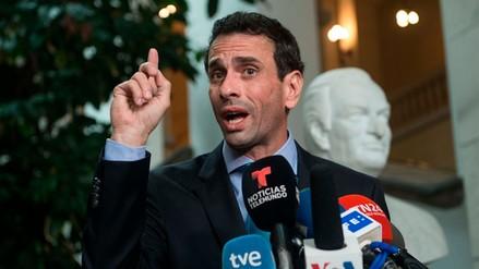 Capriles denunció que el gobierno de Maduro lo inhabilitó por 15 años