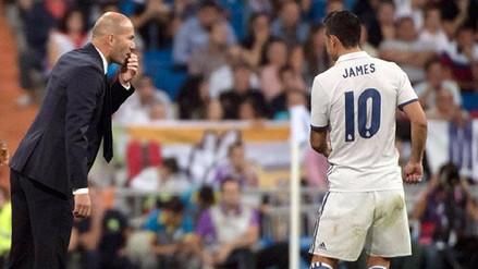 Zinedine Zidane rebaja la tensión con James Rodríguez en el Real Madrid