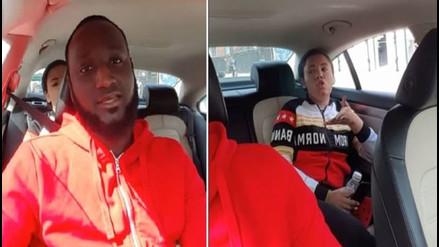 Pasajera lanza amenazas e insultos racistas a conductor de Uber