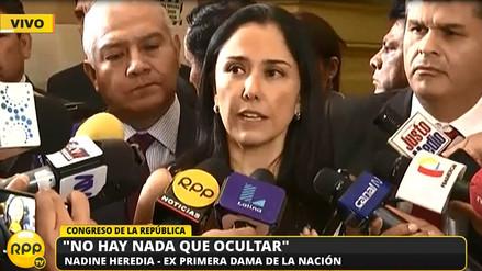 Nadine Heredia sobre delación de Barata :
