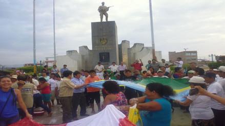 Bagua: lavan banderas rechazando la agresión a regidor
