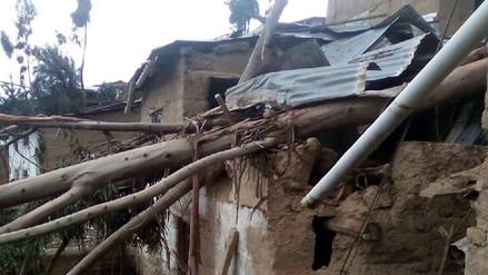 Siete viviendas afectadas por vientos y granizadas en San Pedro de Coris