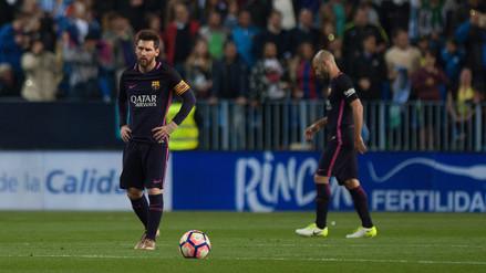 Barcelona tuvo un partido para el olvido y cayó ante Málaga en La Rosaleda