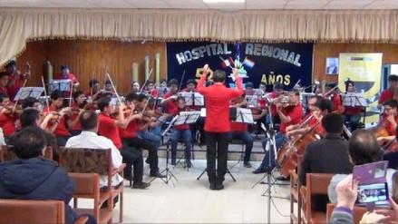 Orquesta Sinfónica ofreció concierto en el Hospital Regional