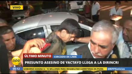 El accidentado ingreso del presunto asesino de Yactayo a la Dirincri