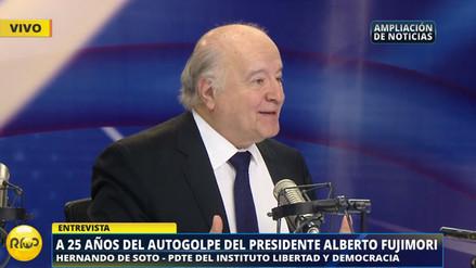Hernando de Soto contó la historia del diálogo entre Fujimori y Bush tras el 5 de abril