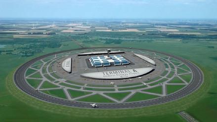 ¿Es esta gigantesca rotonda el aeropuerto del futuro en Europa?
