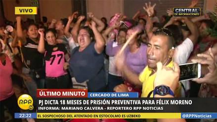 Simpatizantes de Félix Moreno protestaron por fallo de prisión preventiva