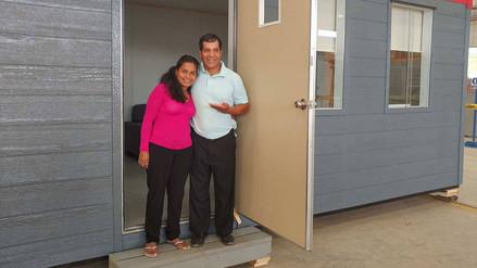 Evangelina Chamorro recibió una moderna vivienda con tecnología modular