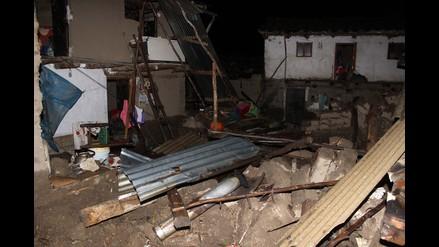 Un comunero muerto y seis casas colapsadas por lluvias en Recuay