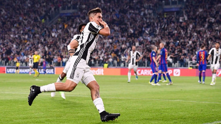 Paulo Dybala marcó un golazo a Ter Stegen para la Juventus en Champions