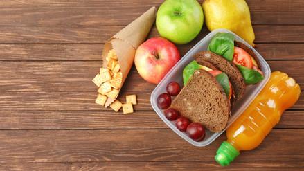 ¿Qué debe contener una lonchera escolar saludable?