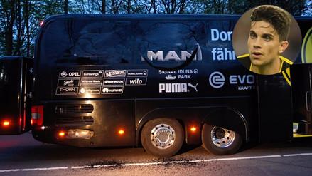 Un jugador del Borussia Dortmund herido tras explosión cerca del bus del equipo