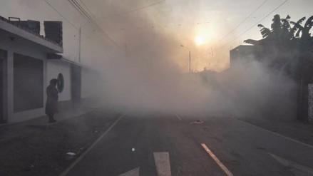 Se fumiga distritos ante más casos de dengue en Chincha