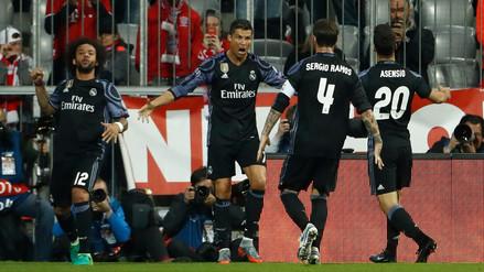 Real Madrid volteó el partido al Bayern con doblete de Cristiano Ronaldo