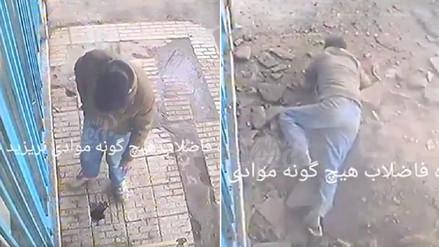 Hombre arrojó un cigarrillo en la calle y provocó una terrible explosión