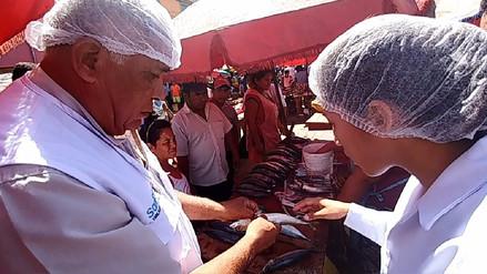 Chiclayo: decomisan más de 50 kilos de pescado en mal estado