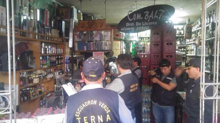 Decomisan licores de contrabando valorizados en 16 mil soles en Arequipa