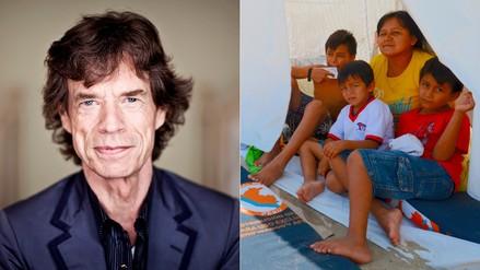 Mick Jagger se sumó a la campaña a favor de damnificados por lluvias en Perú