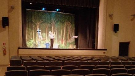 Actor italiano hizo toda su función ante un teatro vacío