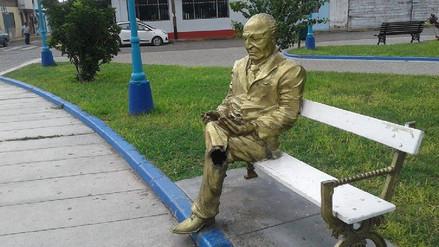 Salaverry: mutilan escultura de Víctor Raúl Haya de la Torre