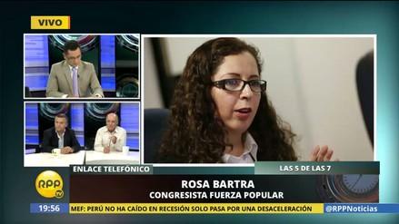 Rosa Bartra desmintió en vivo a Daniel Urresti sobre supuesta sentencia en su contra