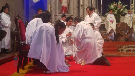 Puno: realizaron misa y lavado de pies por Jueves Santo