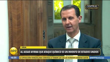 Al Asad acusó a Estados Unidos de montar el ataque químico contra civiles